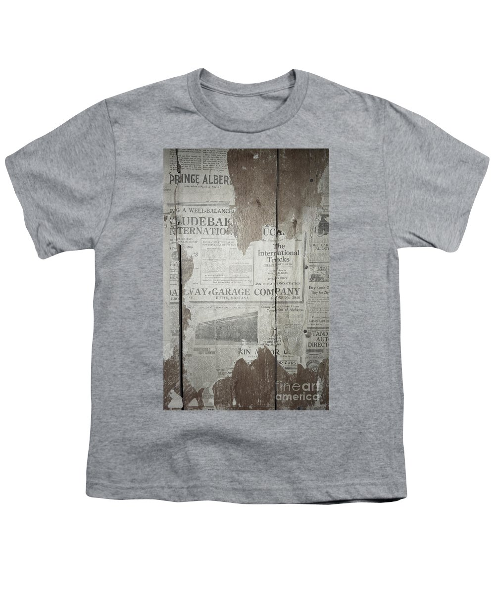 Newspapers Youth T-Shirt featuring the photograph Old News by Richard Rizzo