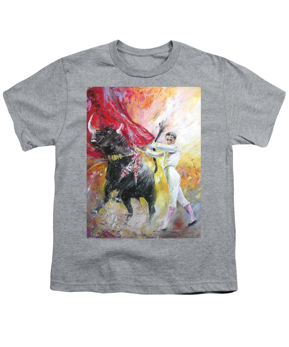Animals Youth T-Shirt featuring the painting Ole by Miki De Goodaboom