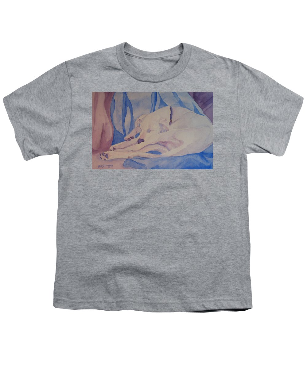 Dog Youth T-Shirt featuring the painting On Fallen Blankets by Jenny Armitage