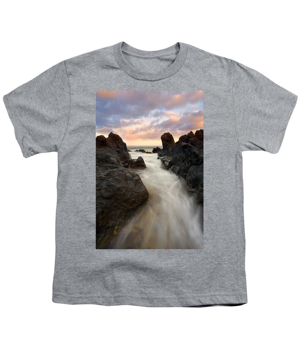 Sunrise Youth T-Shirt featuring the photograph Primordial Tides by Mike Dawson
