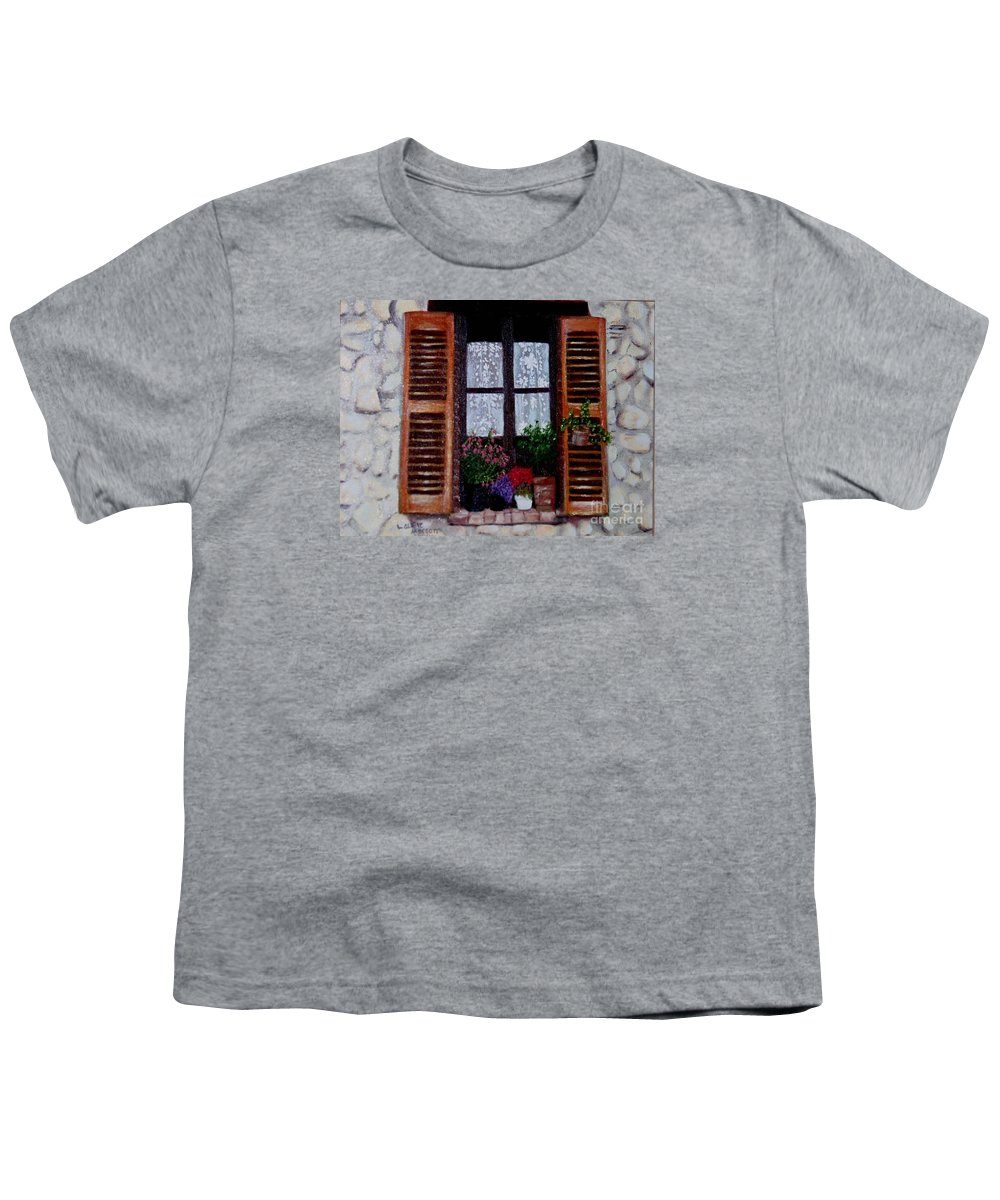 Provence Youth T-Shirt featuring the painting Provence Morning by Laurie Morgan