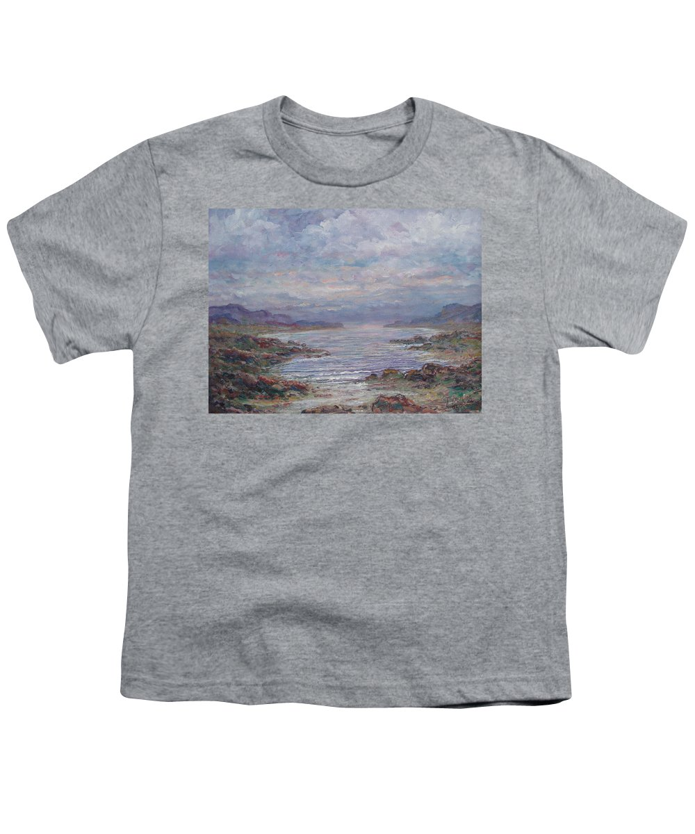 Painting Youth T-Shirt featuring the painting Quiet Bay. by Leonard Holland