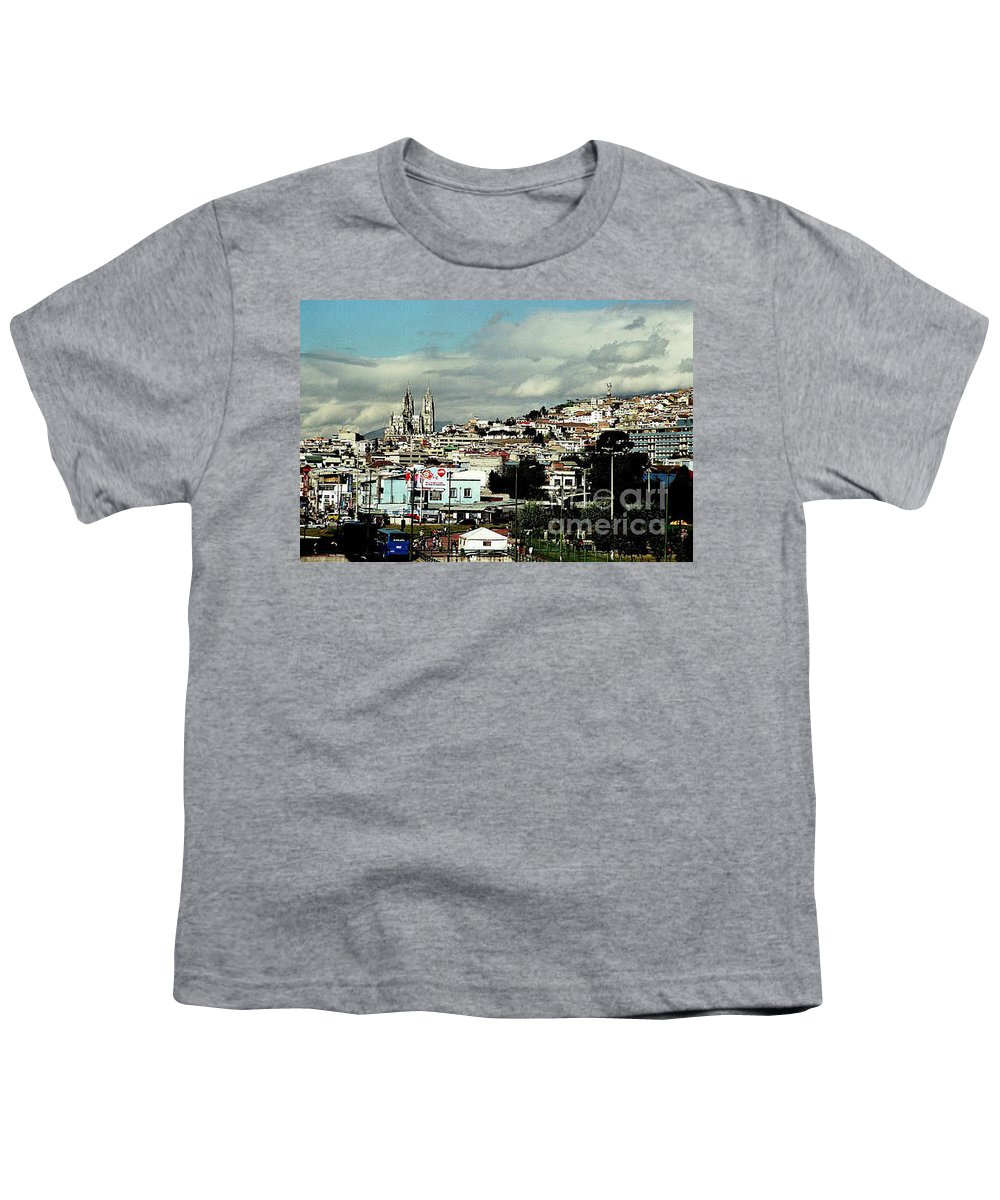 Ecuador Youth T-Shirt featuring the photograph Quito by Kathy McClure