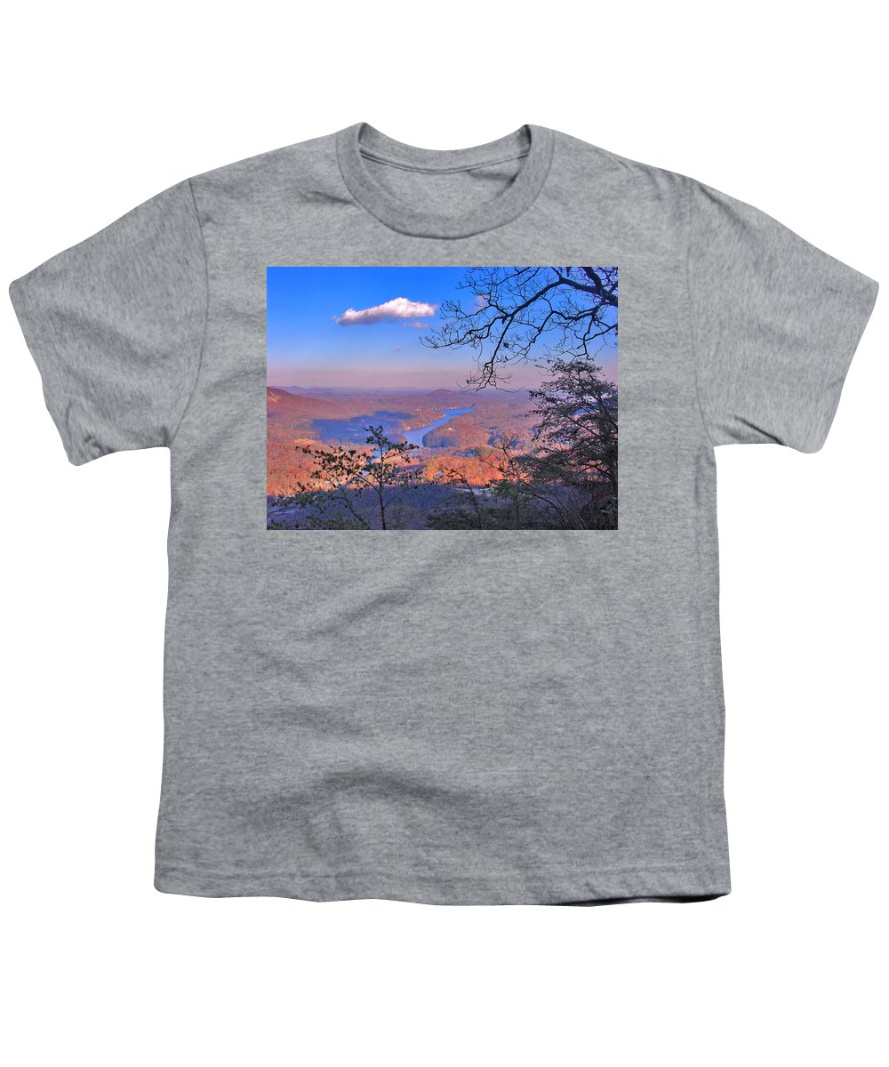 Landscape Youth T-Shirt featuring the photograph Reaching For A Cloud by Steve Karol