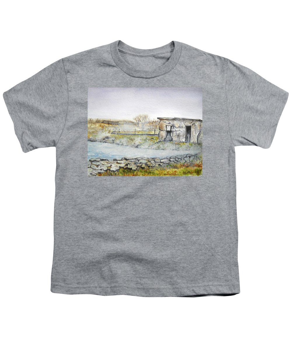 Peaceful Youth T-Shirt featuring the painting Secret Lagoon by Lisa Cini