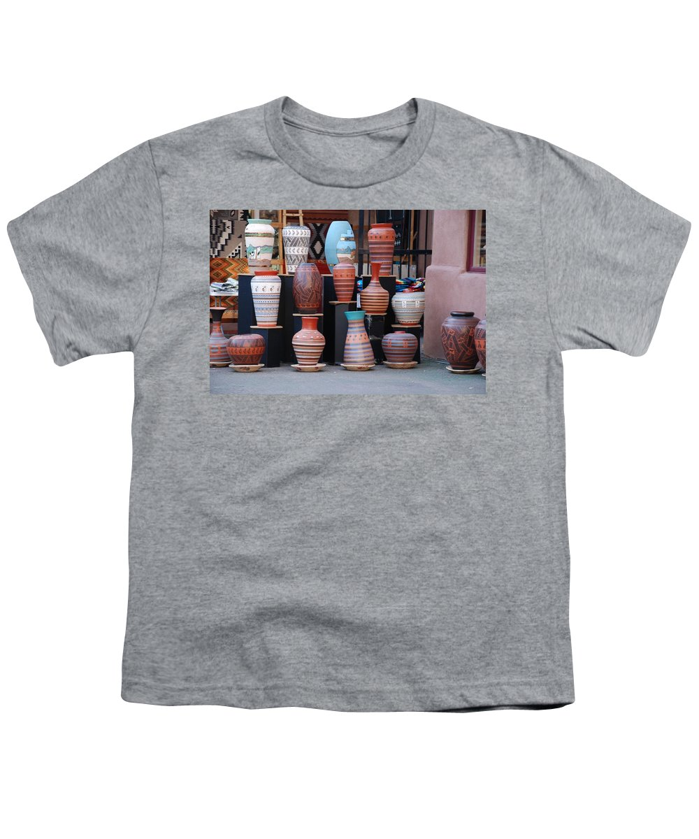 Southwestern Youth T-Shirt featuring the photograph Southwestern Potery by Rob Hans