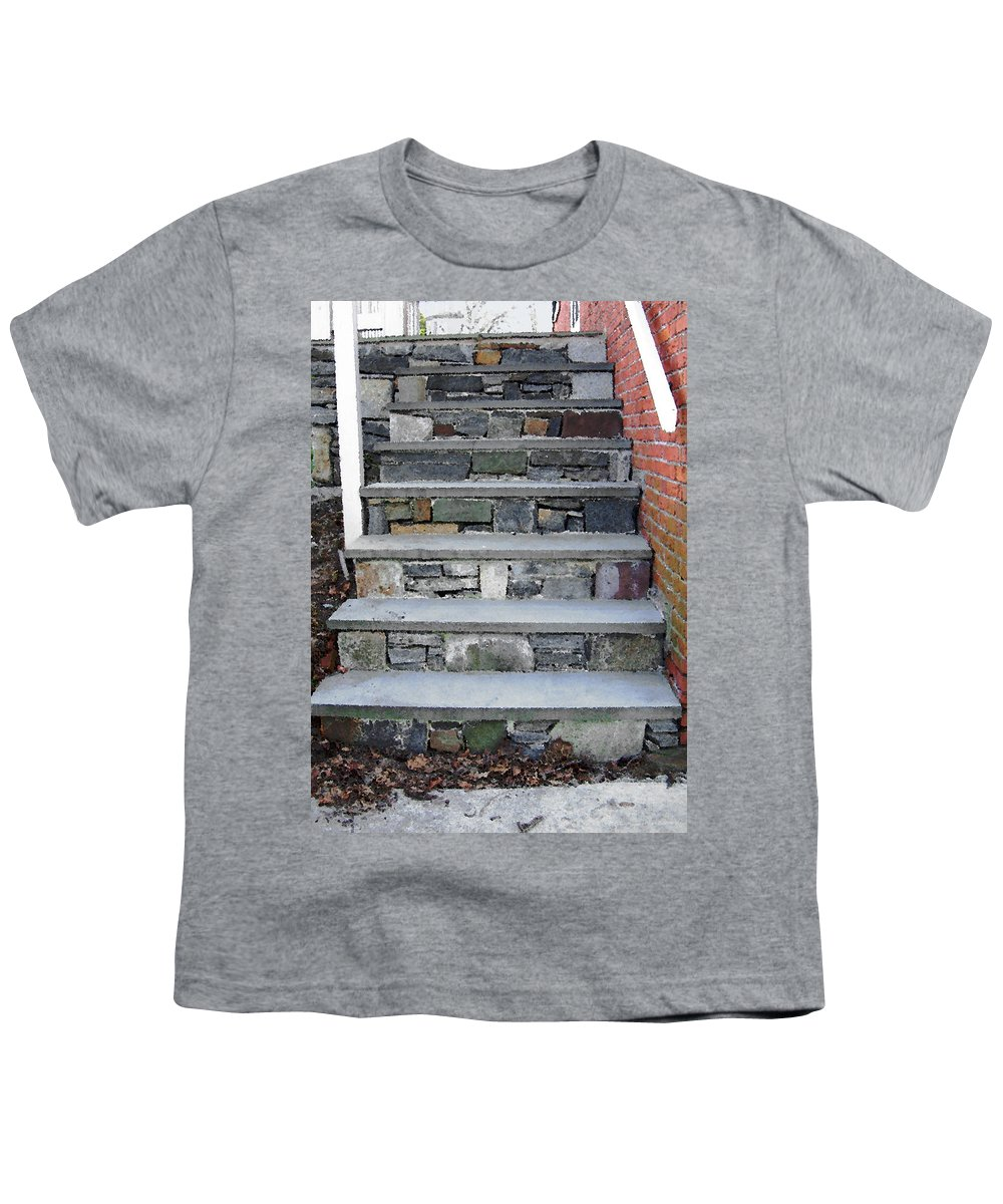 Stairs Youth T-Shirt featuring the photograph Stairs To The Plague House by RC DeWinter