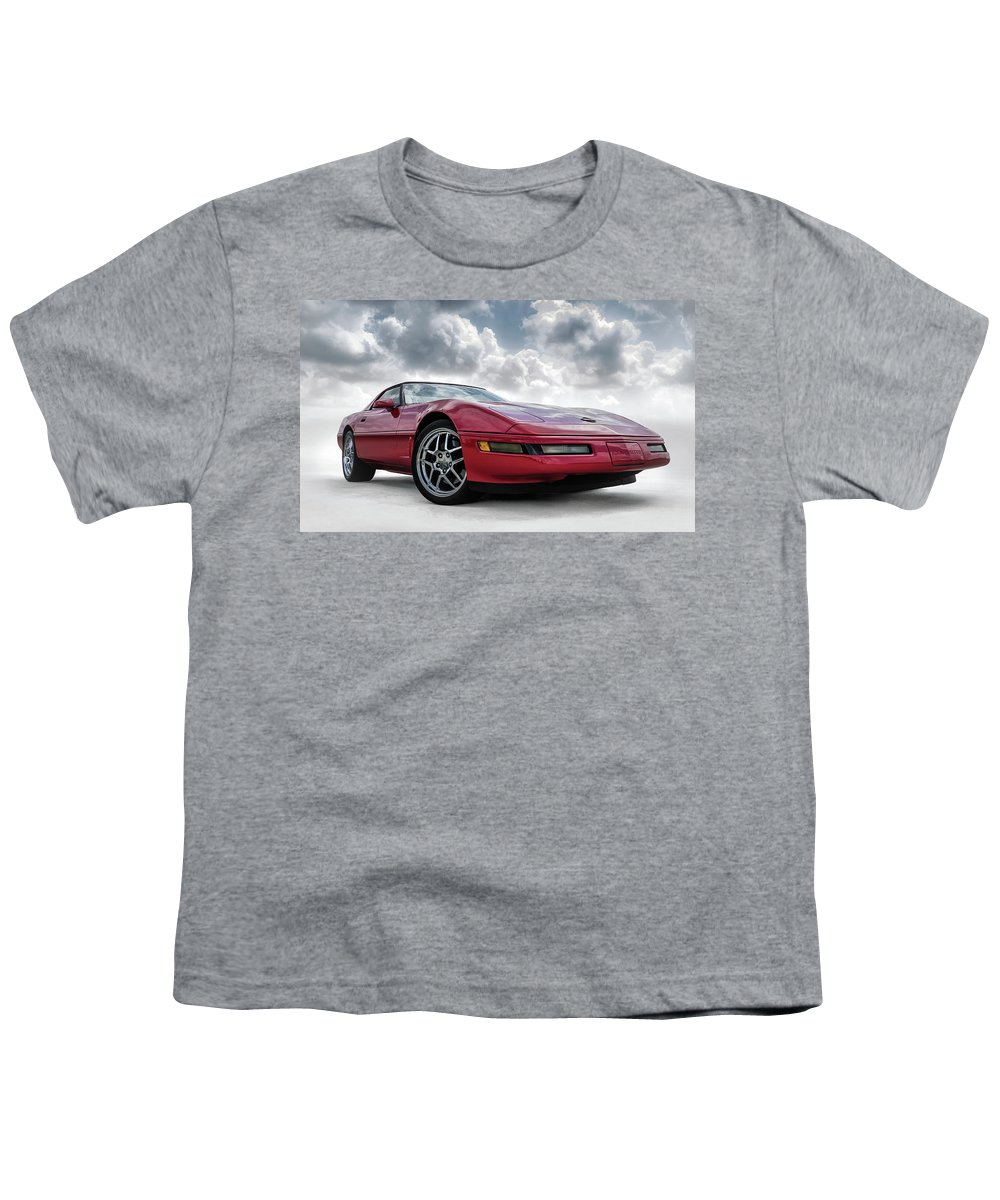 Corvette Youth T-Shirt featuring the digital art Stormy Forecast by Douglas Pittman