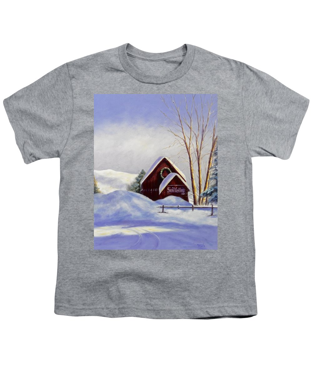 Landscape Youth T-Shirt featuring the painting Sun Valley 2 by Shannon Grissom
