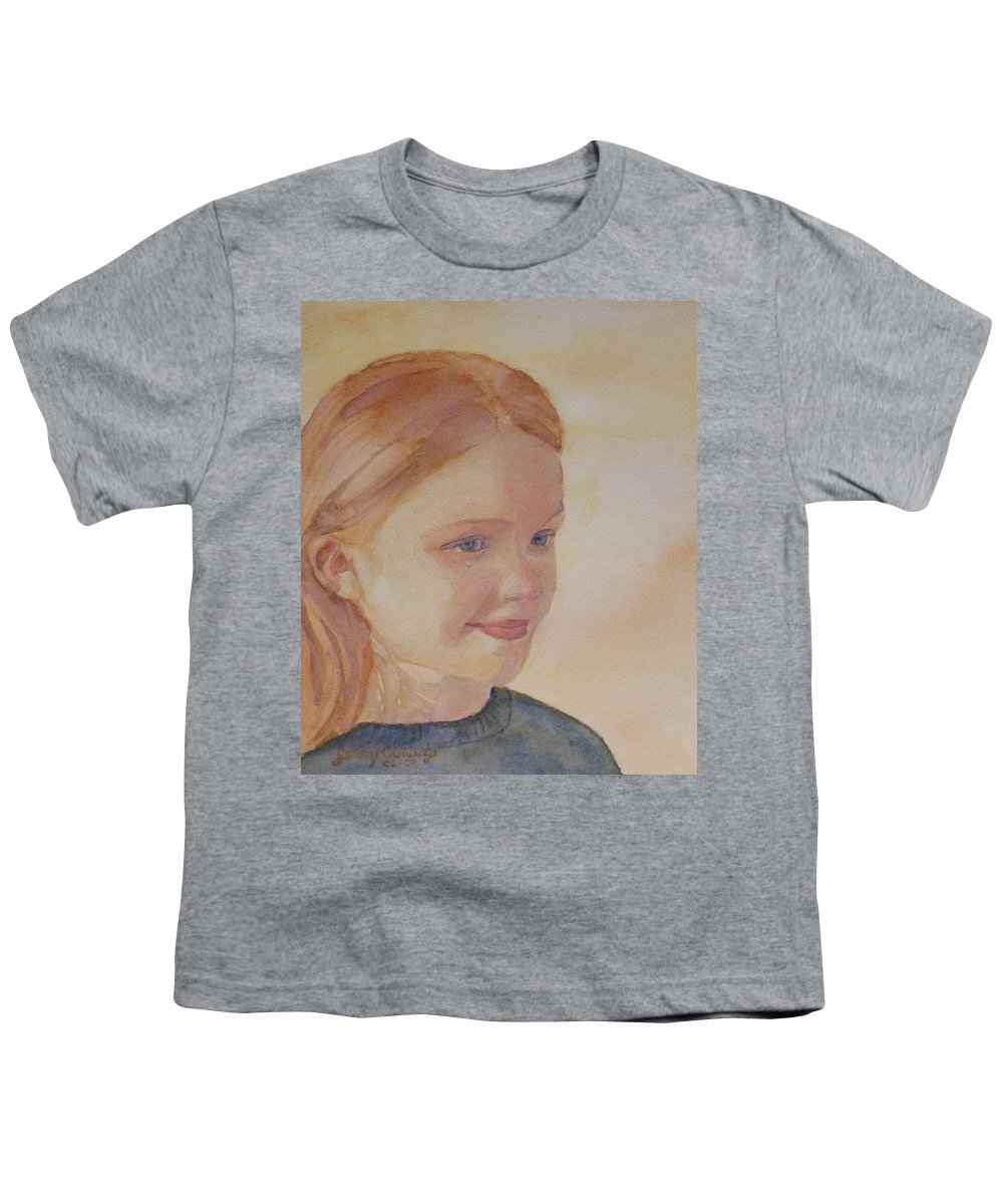 Girl Youth T-Shirt featuring the painting Sunnie Birdie by Jenny Armitage