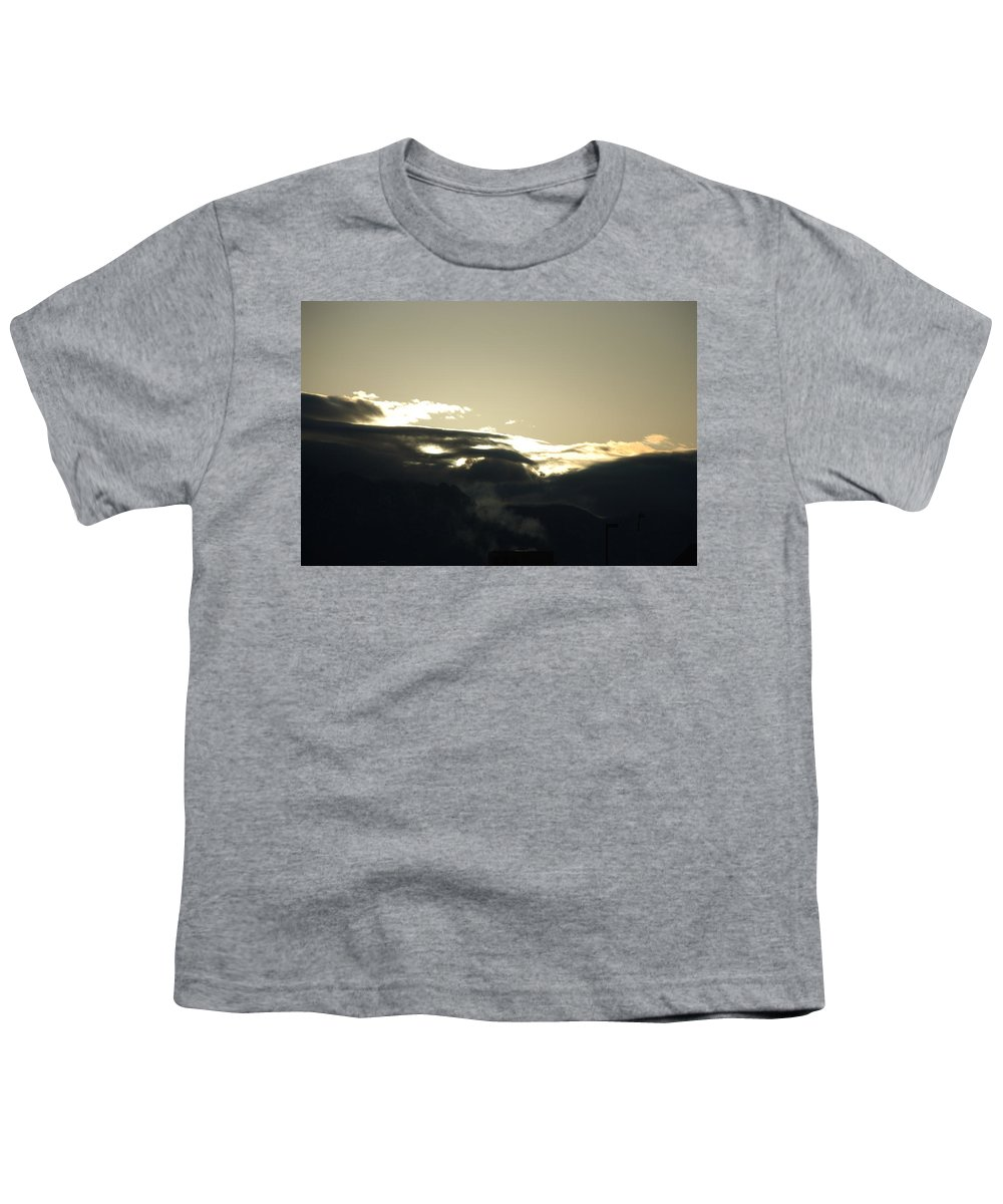 Sunrise Youth T-Shirt featuring the photograph Sunrise Over The Sandias by Rob Hans