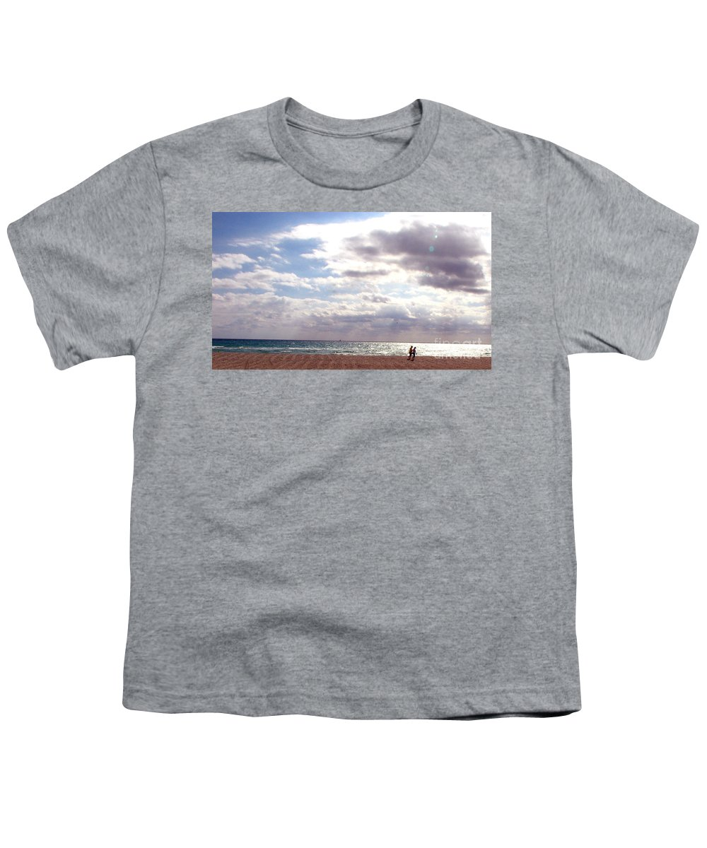 Walking Youth T-Shirt featuring the photograph Taking A Walk by Amanda Barcon