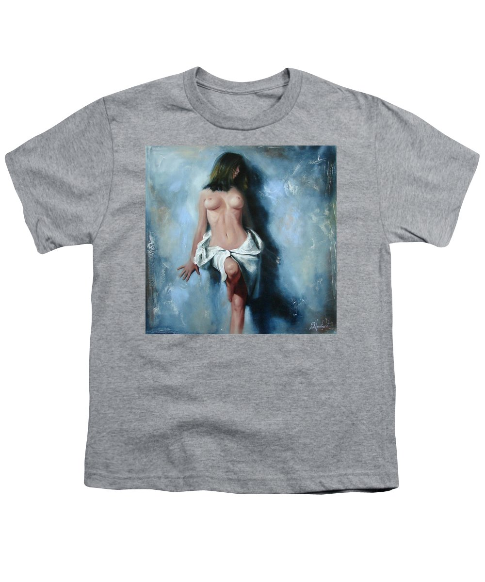 Oil Youth T-Shirt featuring the painting The Cold Senses by Sergey Ignatenko