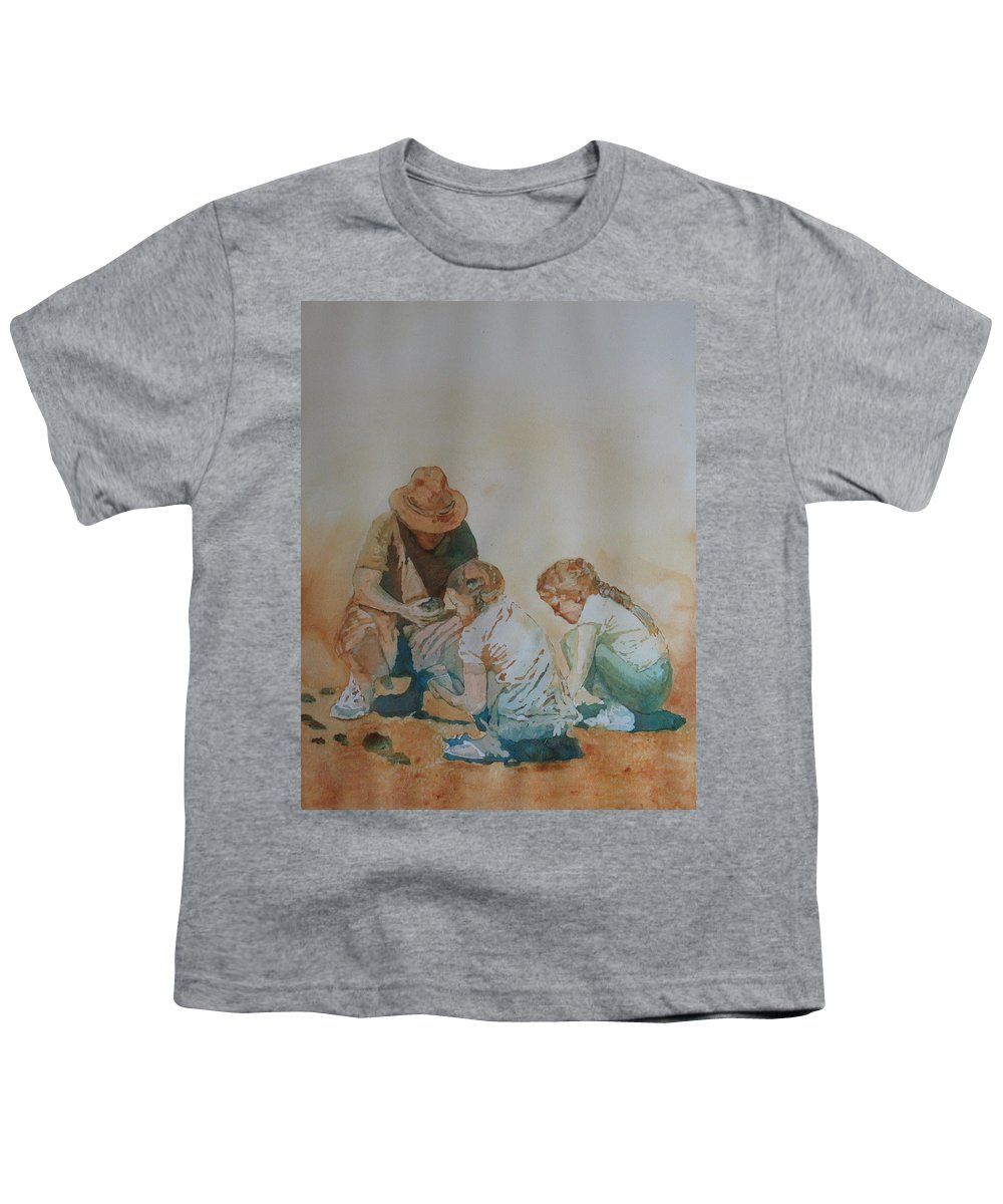 Fathers Youth T-Shirt featuring the painting The Pumice Seekers by Jenny Armitage