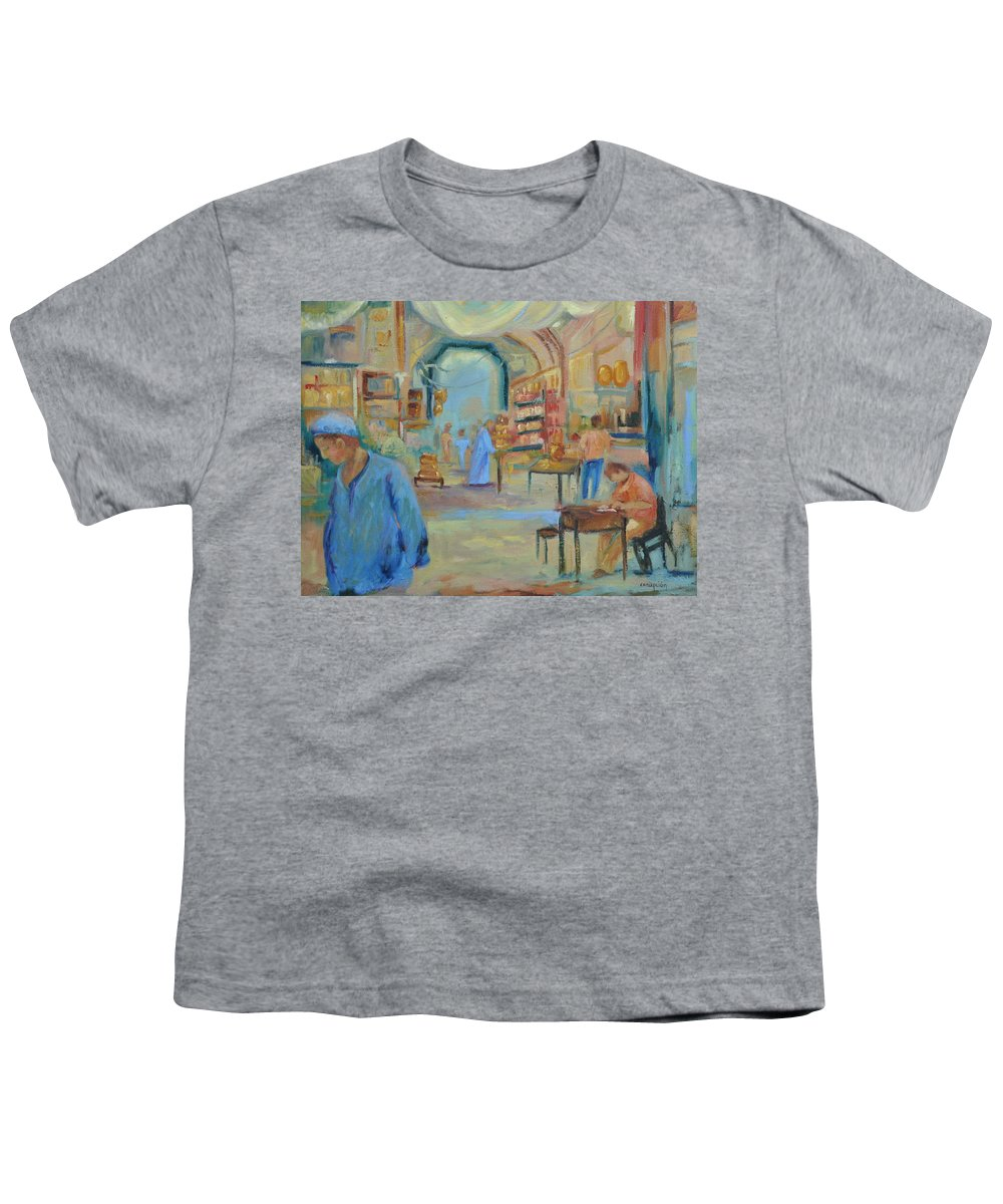 Figurative Youth T-Shirt featuring the painting The Souk by Ginger Concepcion