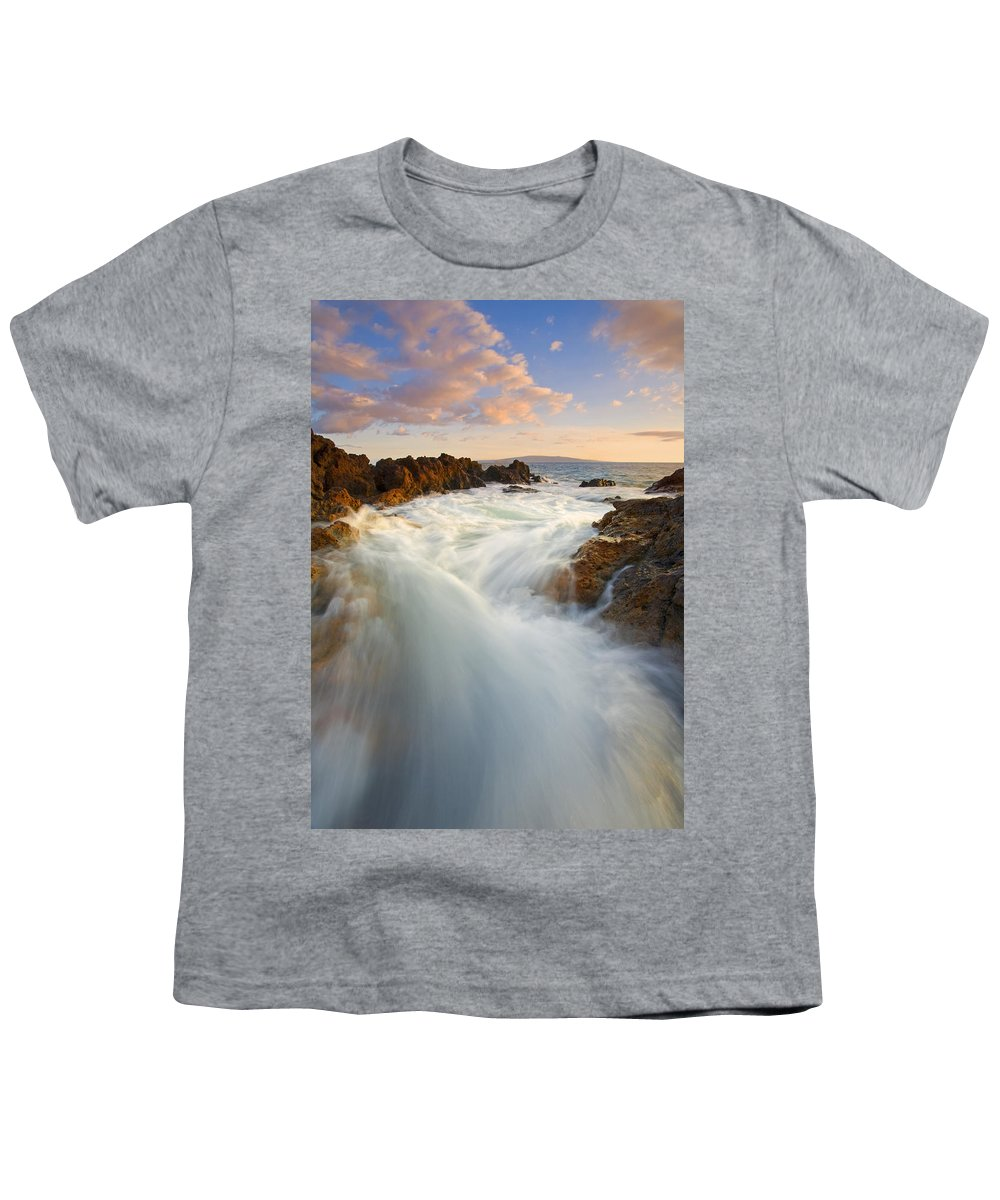 Surge Youth T-Shirt featuring the photograph Tidal Surge by Mike Dawson