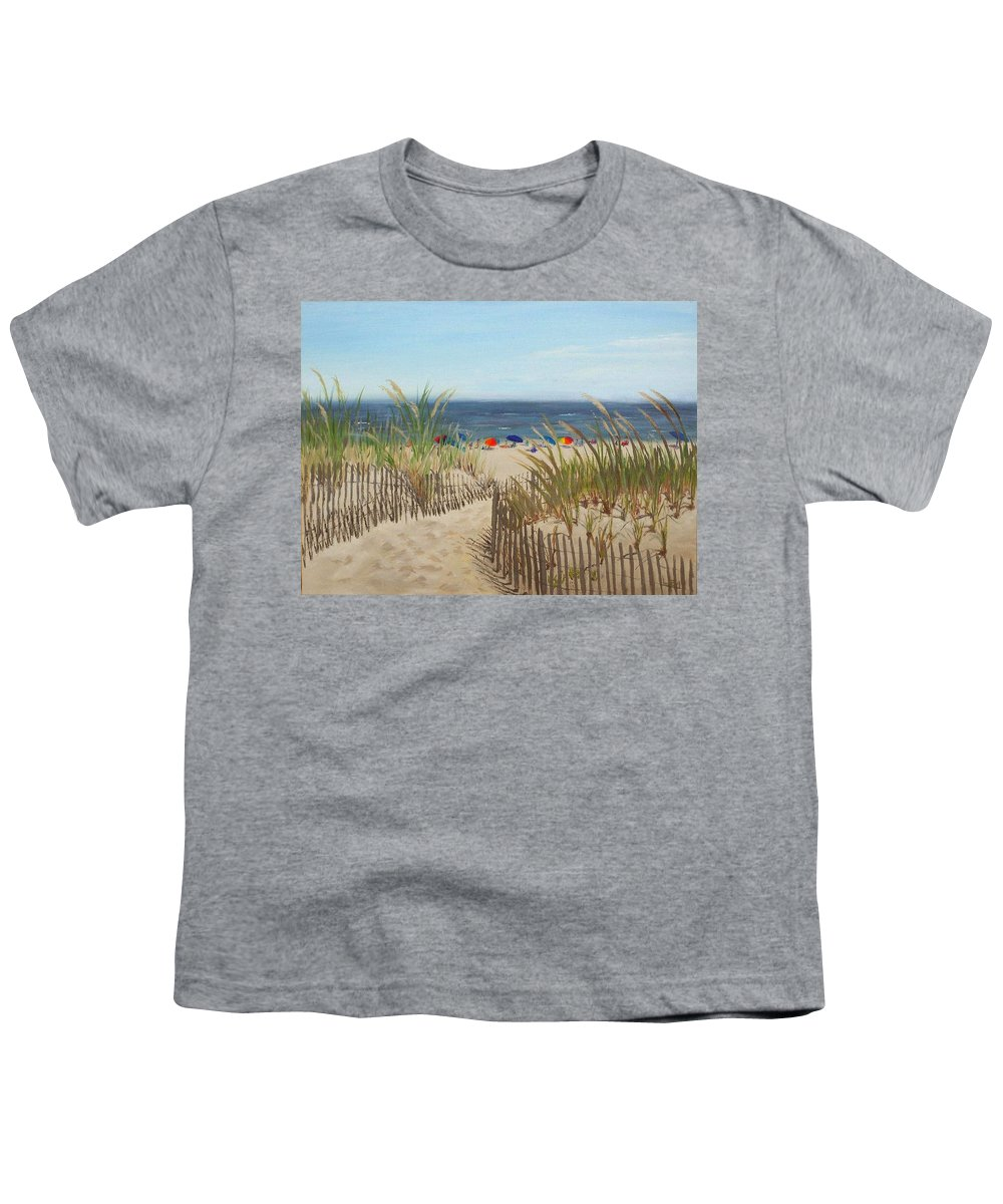 Beach Youth T-Shirt featuring the painting To The Beach by Lea Novak
