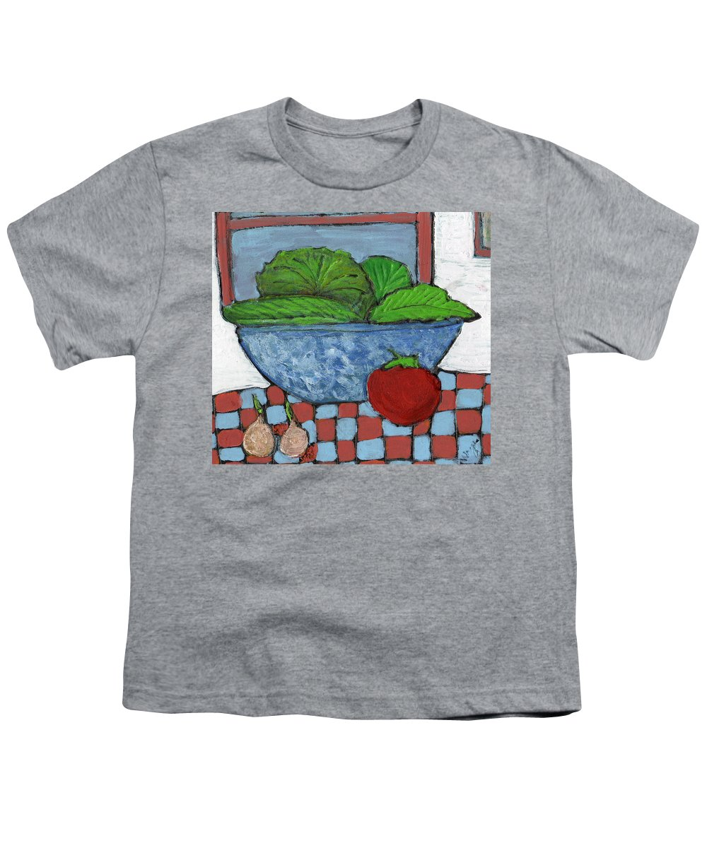 Food Youth T-Shirt featuring the painting Tonight's Salad by Wayne Potrafka