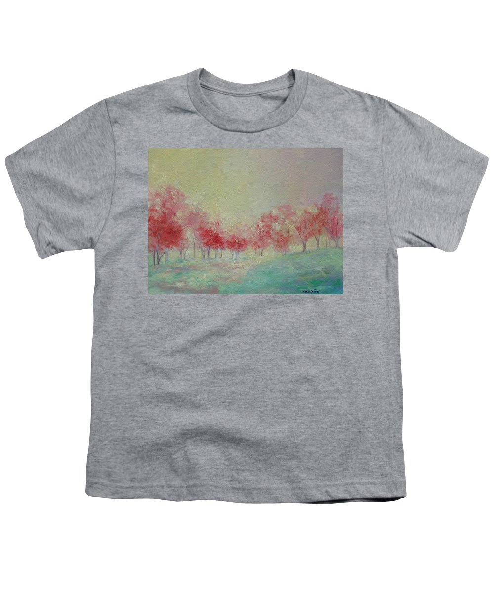 Impressionist Trees Youth T-Shirt featuring the painting Treeline by Ginger Concepcion