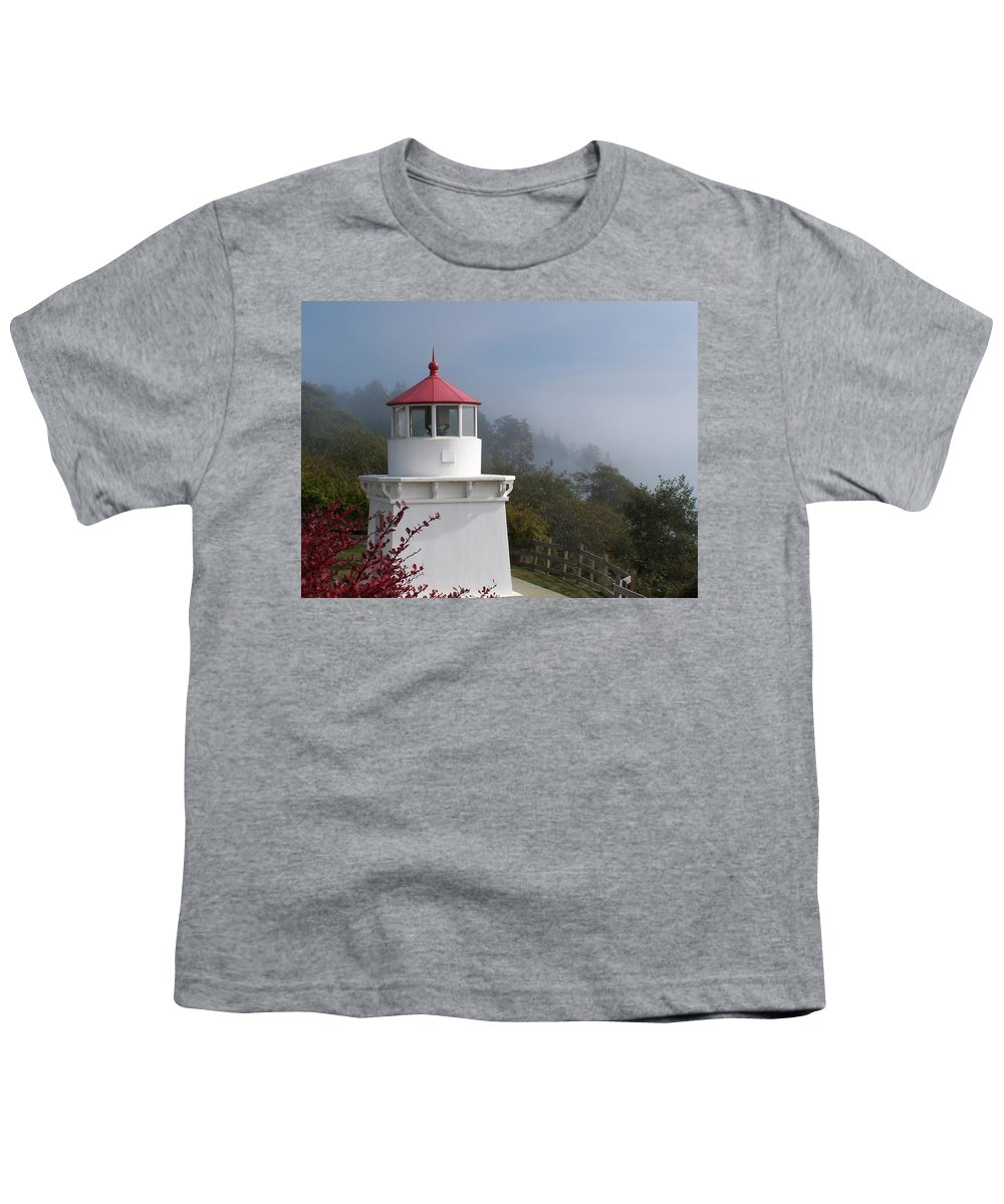Lighthouse Youth T-Shirt featuring the photograph Trinidad Head Lighthouse by Gale Cochran-Smith