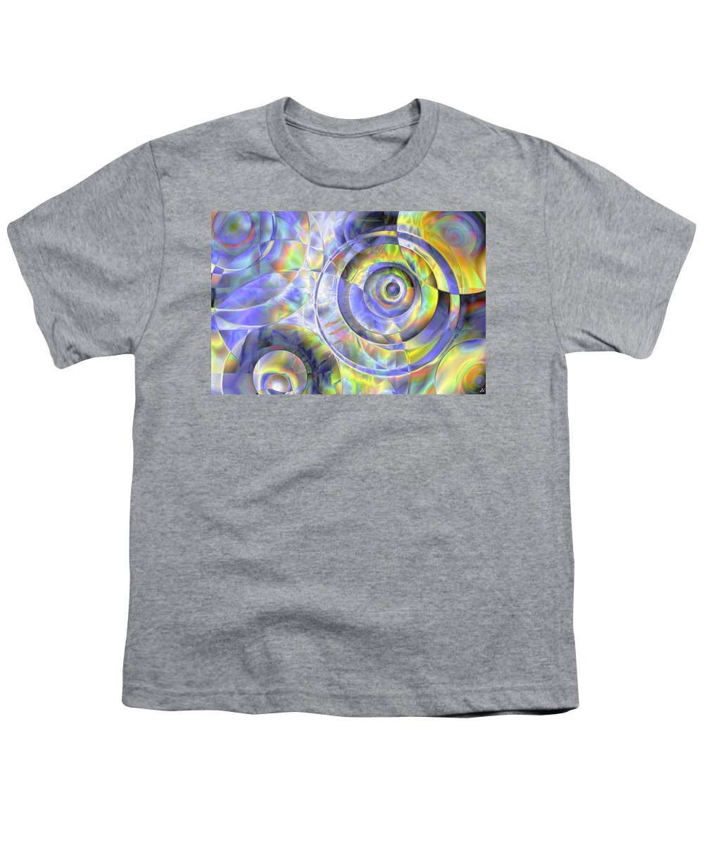 Colors Youth T-Shirt featuring the digital art Vision 37 by Jacques Raffin