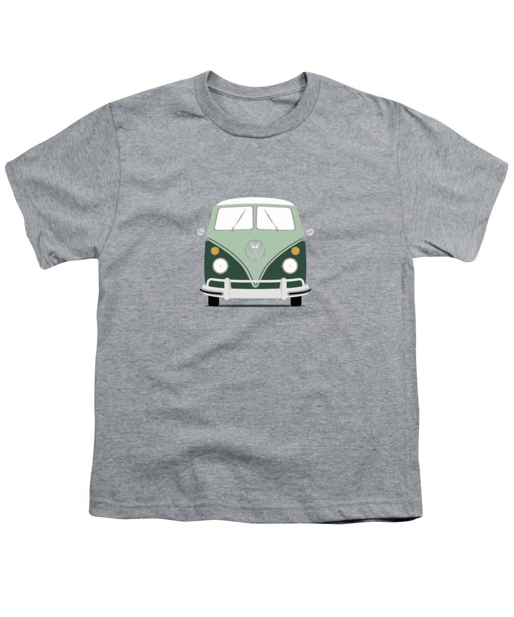 Volkswagen Youth T-Shirt featuring the photograph Vw Bus Green by Mark Rogan