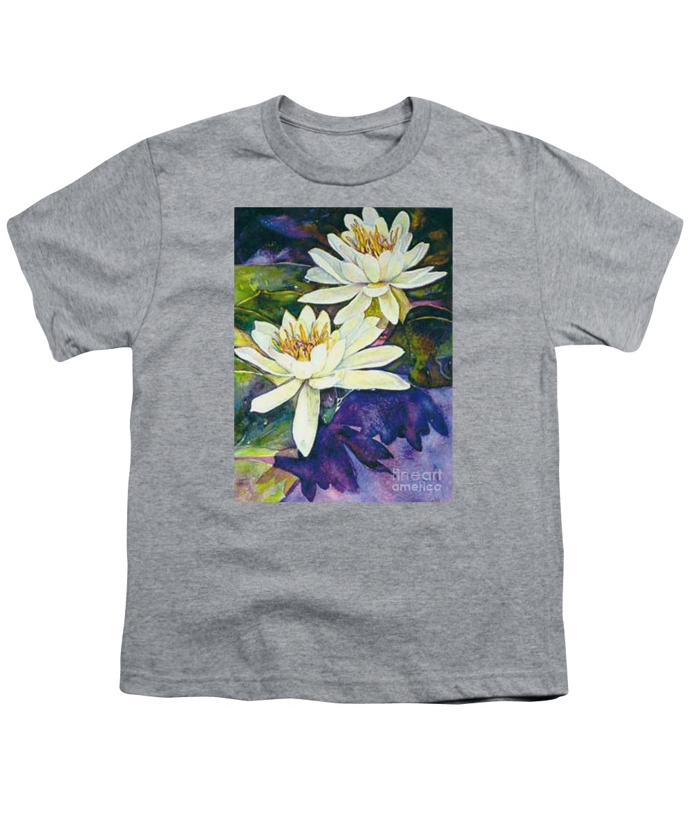 Flower Youth T-Shirt featuring the painting Water Lilies by Norma Boeckler