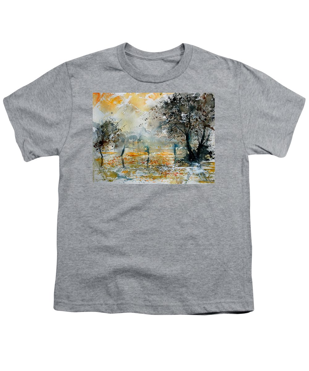 Water Youth T-Shirt featuring the painting Watercolor 261006 by Pol Ledent