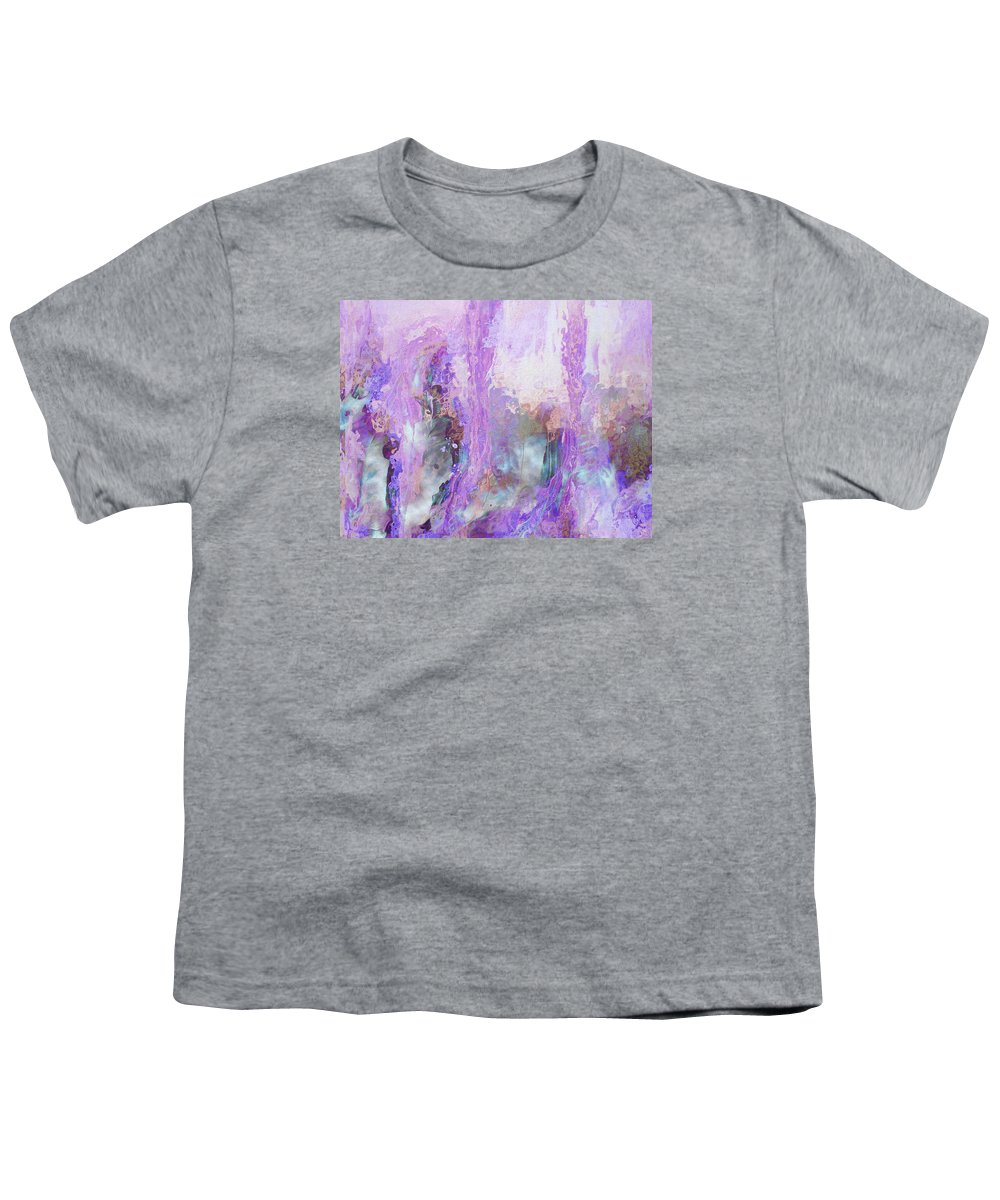 Abstract Art Youth T-Shirt featuring the digital art Whisper Softly by Linda Murphy