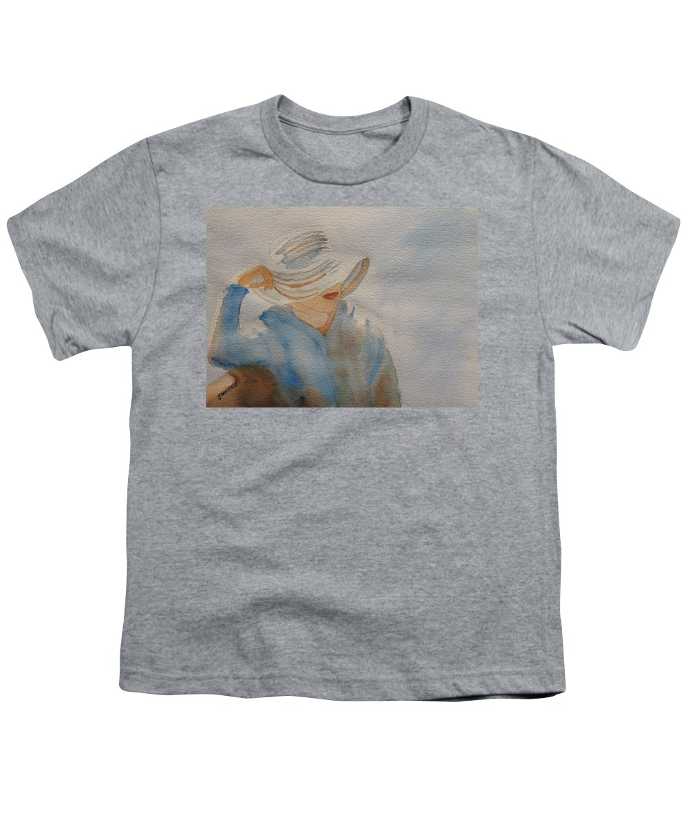 Girls Youth T-Shirt featuring the painting Winter Sun I by Jenny Armitage