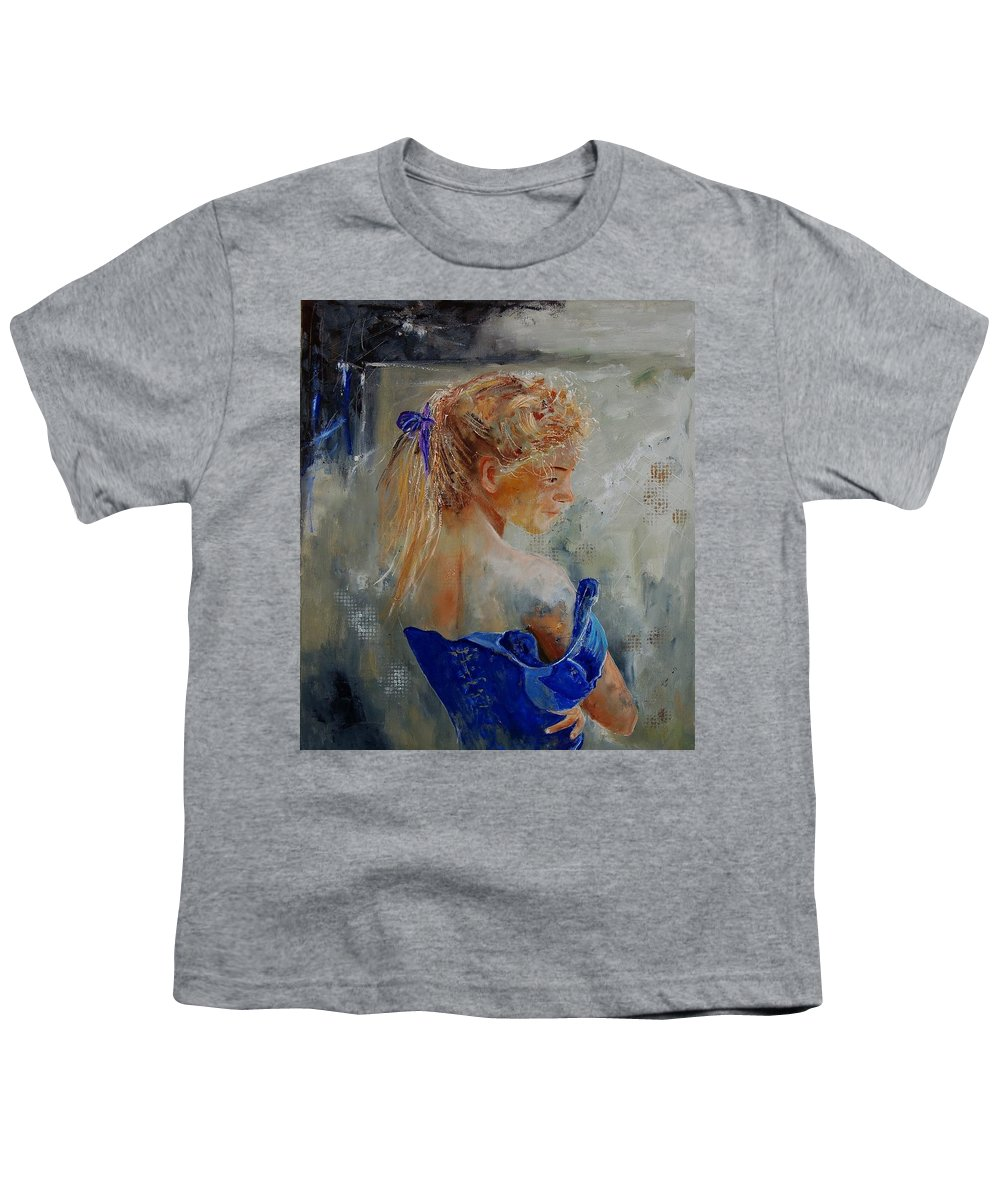 Gir Youth T-Shirt featuring the painting Young Girl 78 by Pol Ledent
