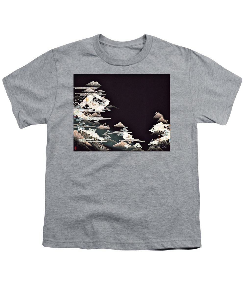Youth T-Shirt featuring the digital art Spirit of Japan T54 by Miho Kanamori