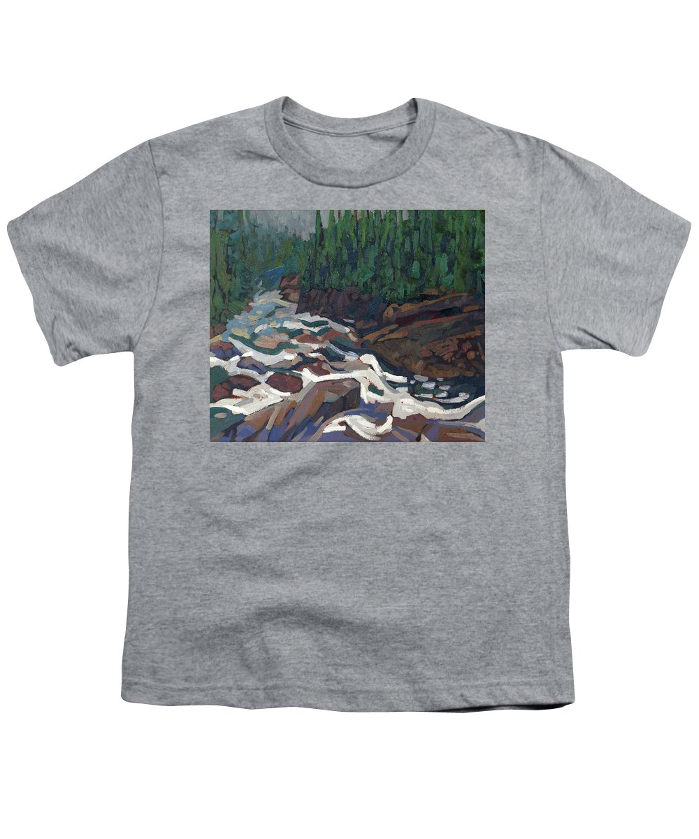 2142 Youth T-Shirt featuring the painting Grande Chute Morning Light by Phil Chadwick