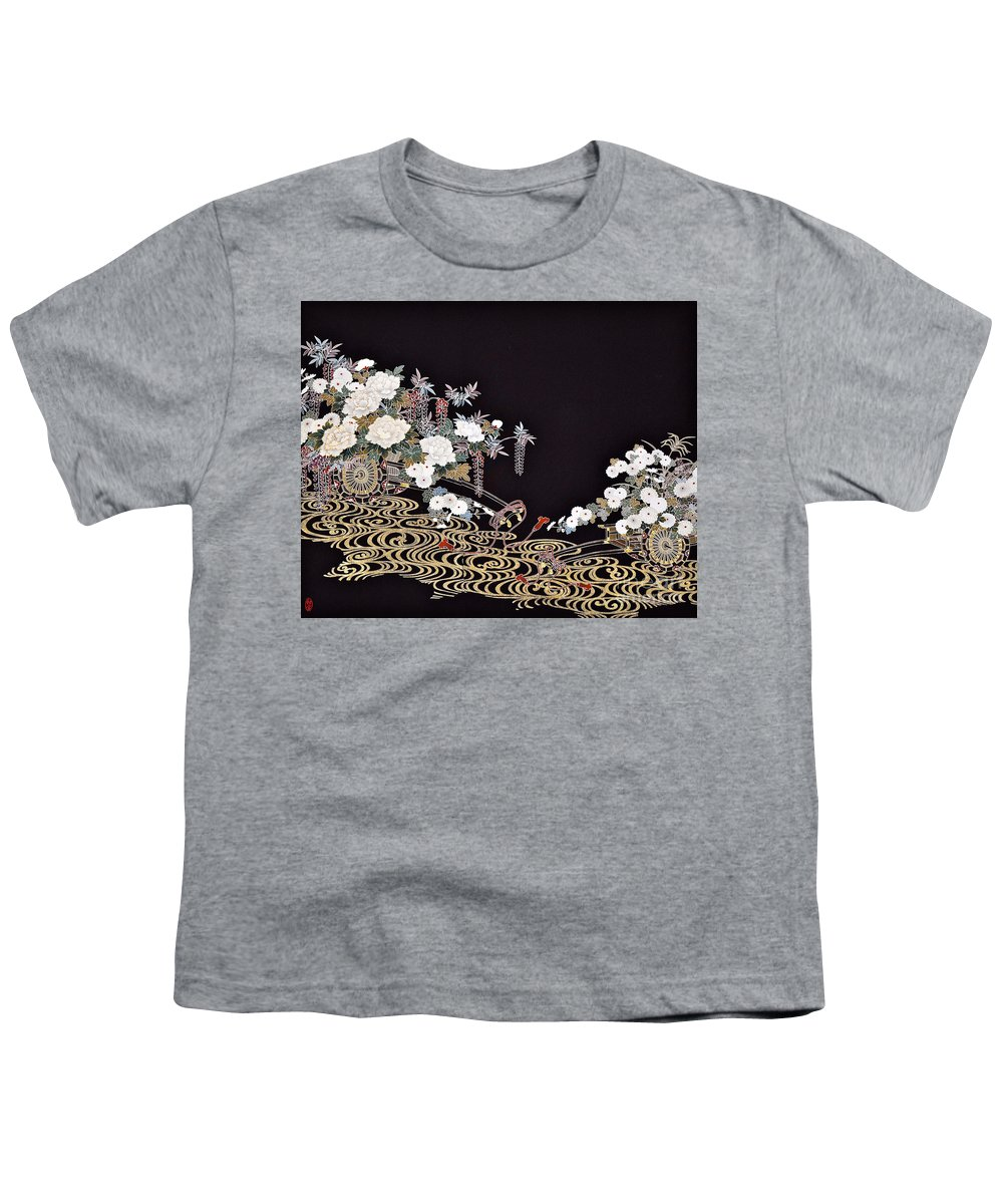 Youth T-Shirt featuring the digital art Spirit of Japan T40 by Miho Kanamori