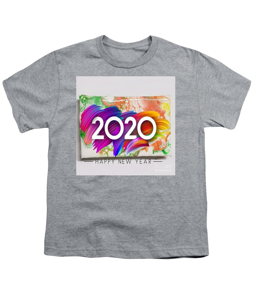 Happynewyear Youth T-Shirt featuring the mixed media Happy New Year by Paola Baroni