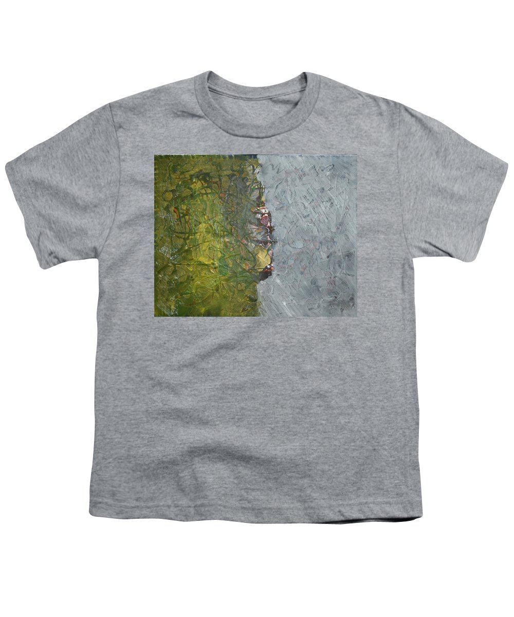 Green Youth T-Shirt featuring the painting Perspectives by Pam Roth O'Mara