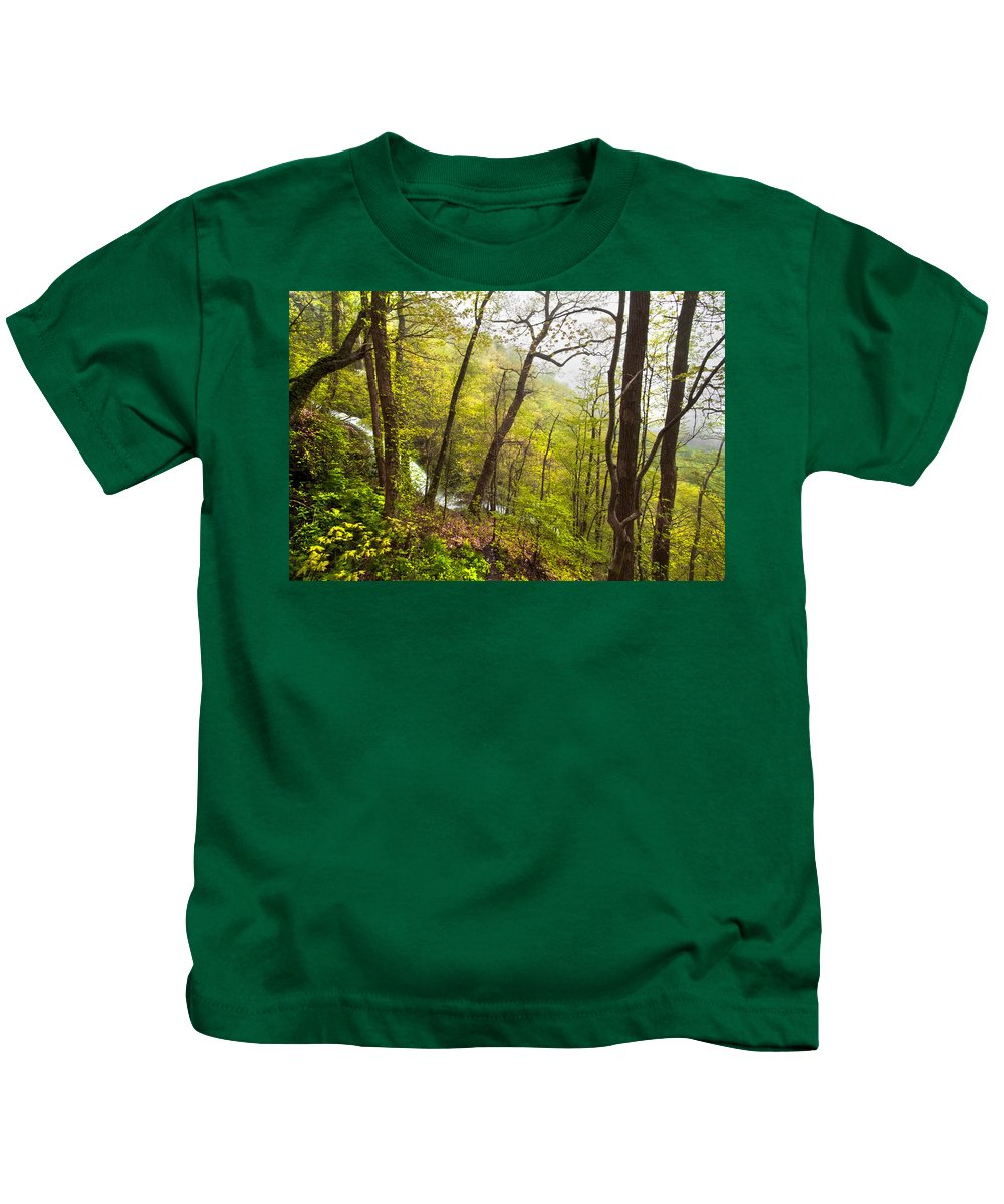 Appalachia Kids T-Shirt featuring the photograph Misty Mountain by Debra and Dave Vanderlaan