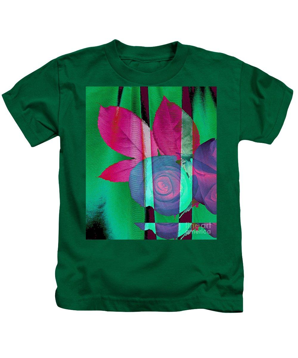 Digital Art Image Kids T-Shirt featuring the digital art Exotic by Yael VanGruber