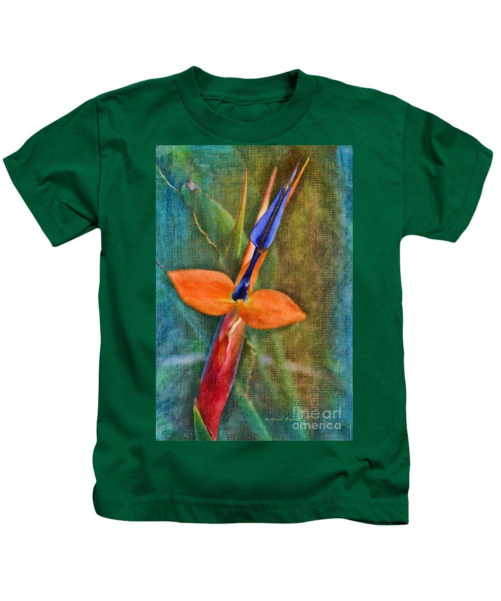 Floral Kids T-Shirt featuring the photograph Floral Contentment by Deborah Benoit