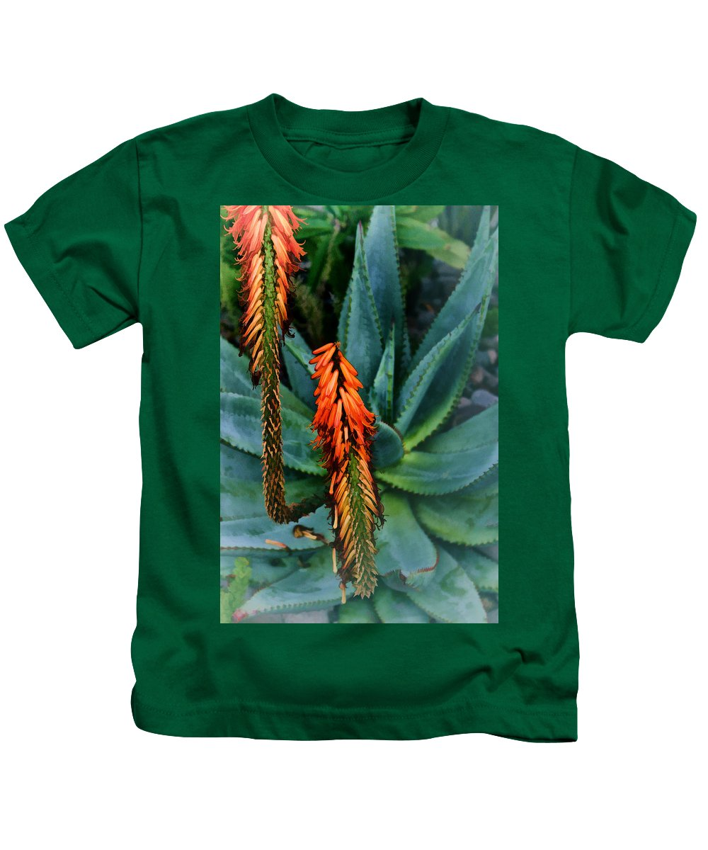 Aloe Kids T-Shirt featuring the digital art Aloe by Georgianne Giese