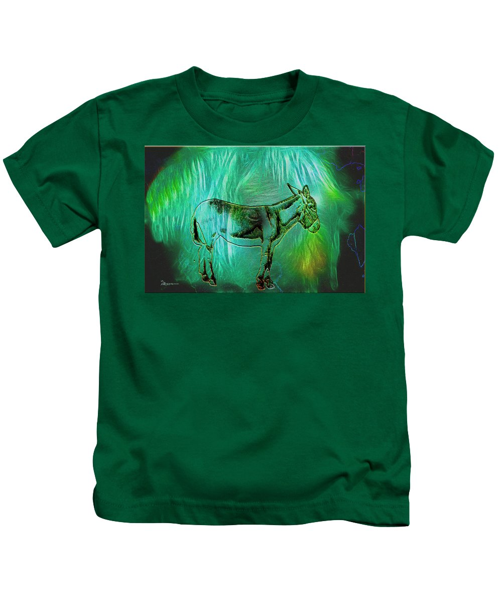 Donkey Kids T-Shirt featuring the photograph Donkey-featured In Nature Photography Group by Ericamaxine Price