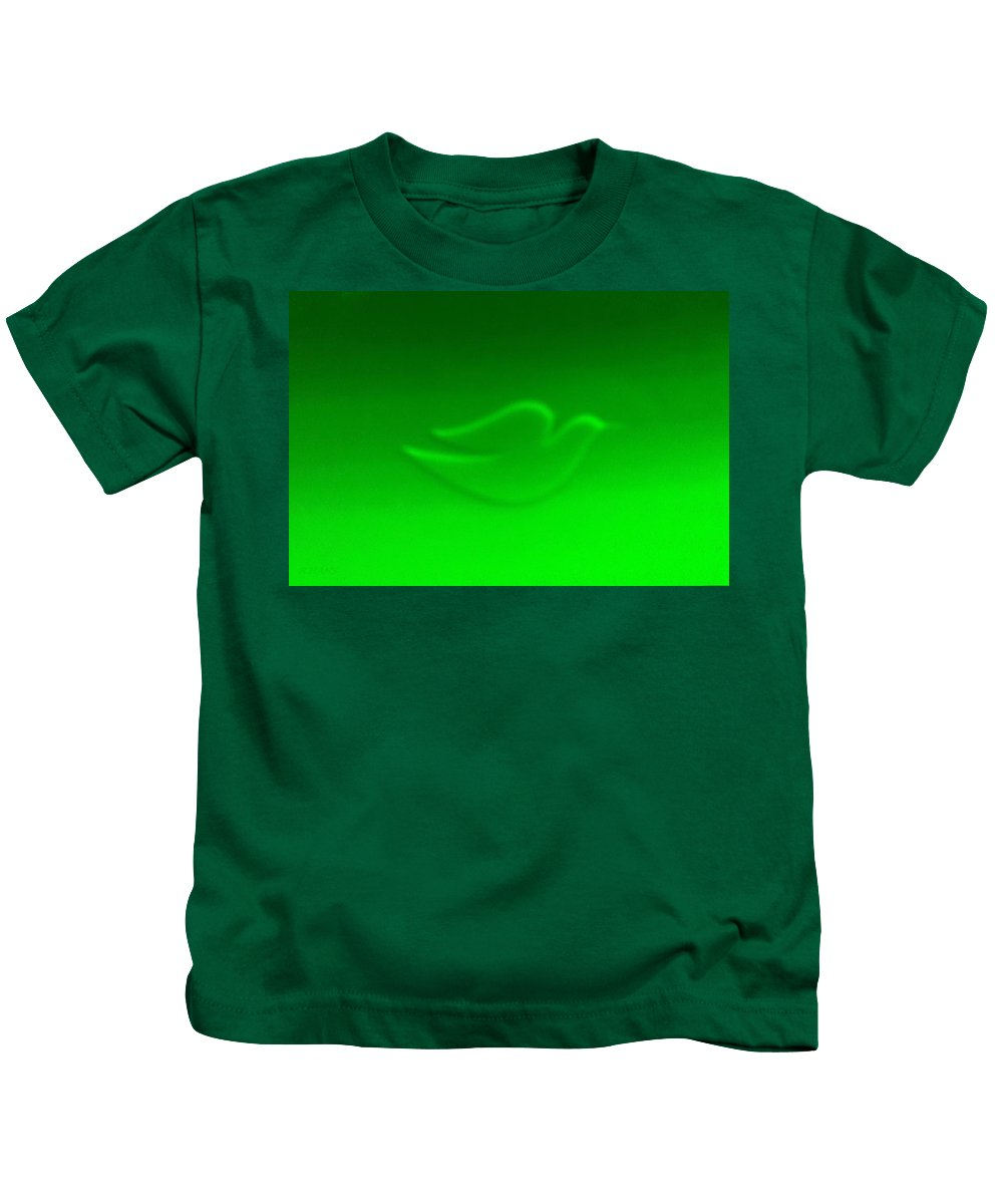 Dove Kids T-Shirt featuring the photograph Dove Green by Rob Hans