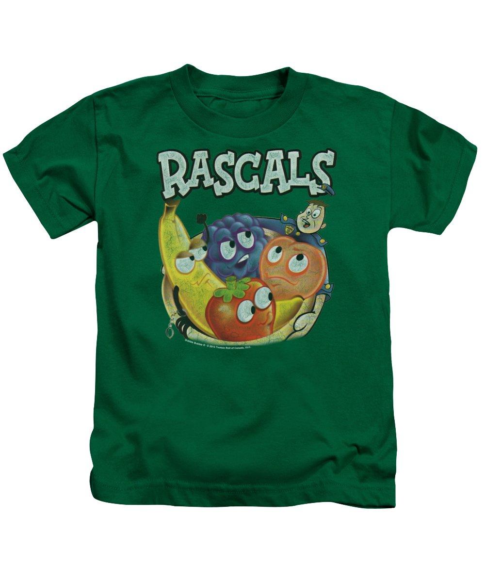 Dubble Bubble Kids T-Shirt featuring the digital art Dubble Bubble - Rascals by Brand A