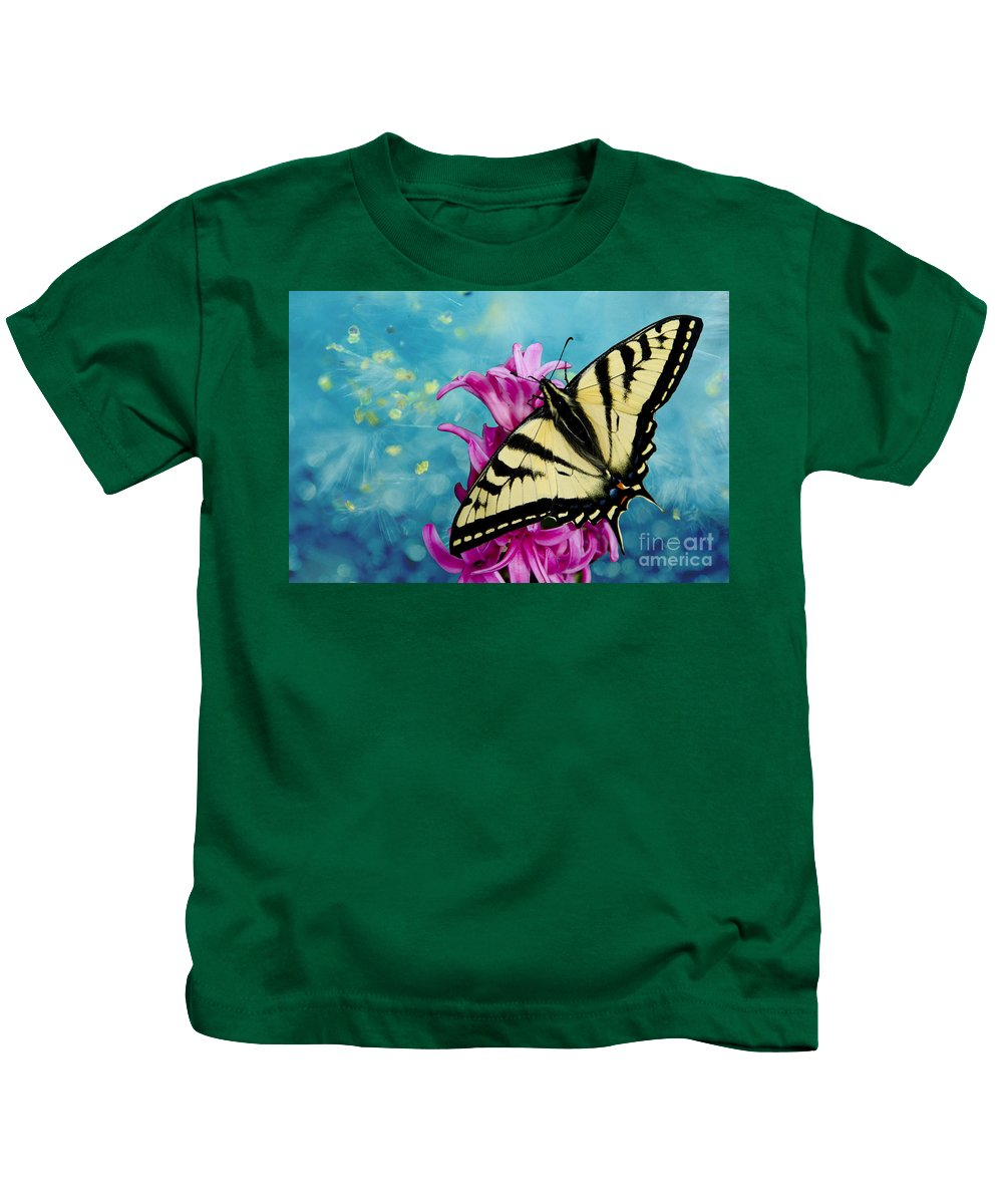 Butterfly Kids T-Shirt featuring the photograph Fairytale Garden by Jim And Emily Bush