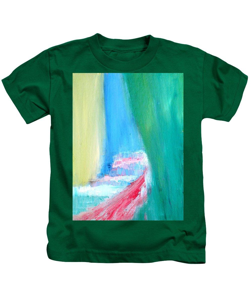 Secret Kids T-Shirt featuring the painting Hidden by Fabrizio Cassetta