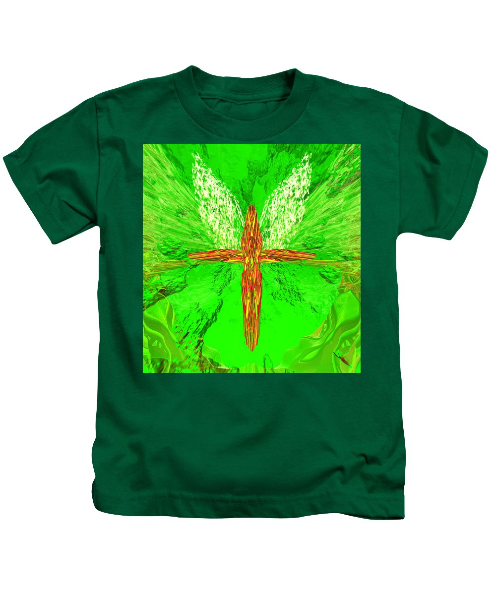 Kids T-Shirt featuring the digital art Hunger Cross 7 by Zac AlleyWalker Lowing