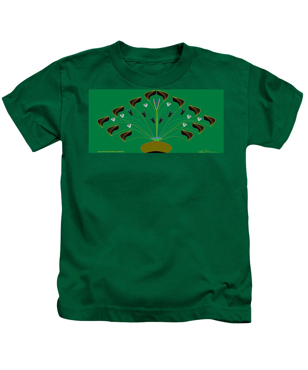 Landscape Kids T-Shirt featuring the painting Jocelyn's Flower by Cynthia Johnson