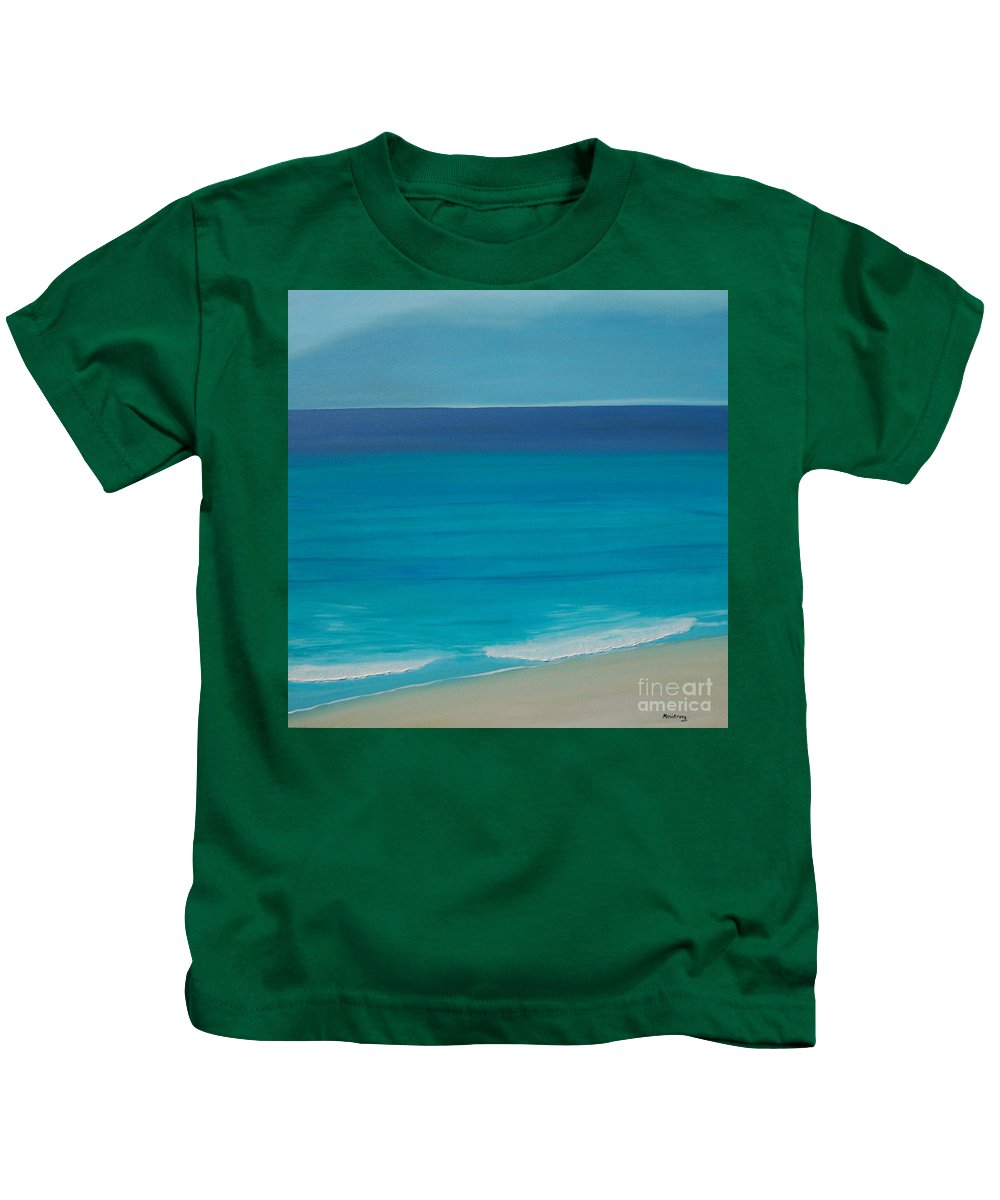 Sea Kids T-Shirt featuring the painting Madagascar by Mini Arora