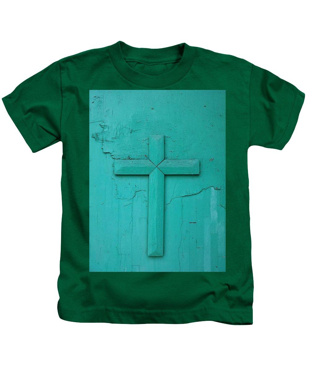 Kids T-Shirt featuring the digital art Old Church Door by Zac AlleyWalker Lowing