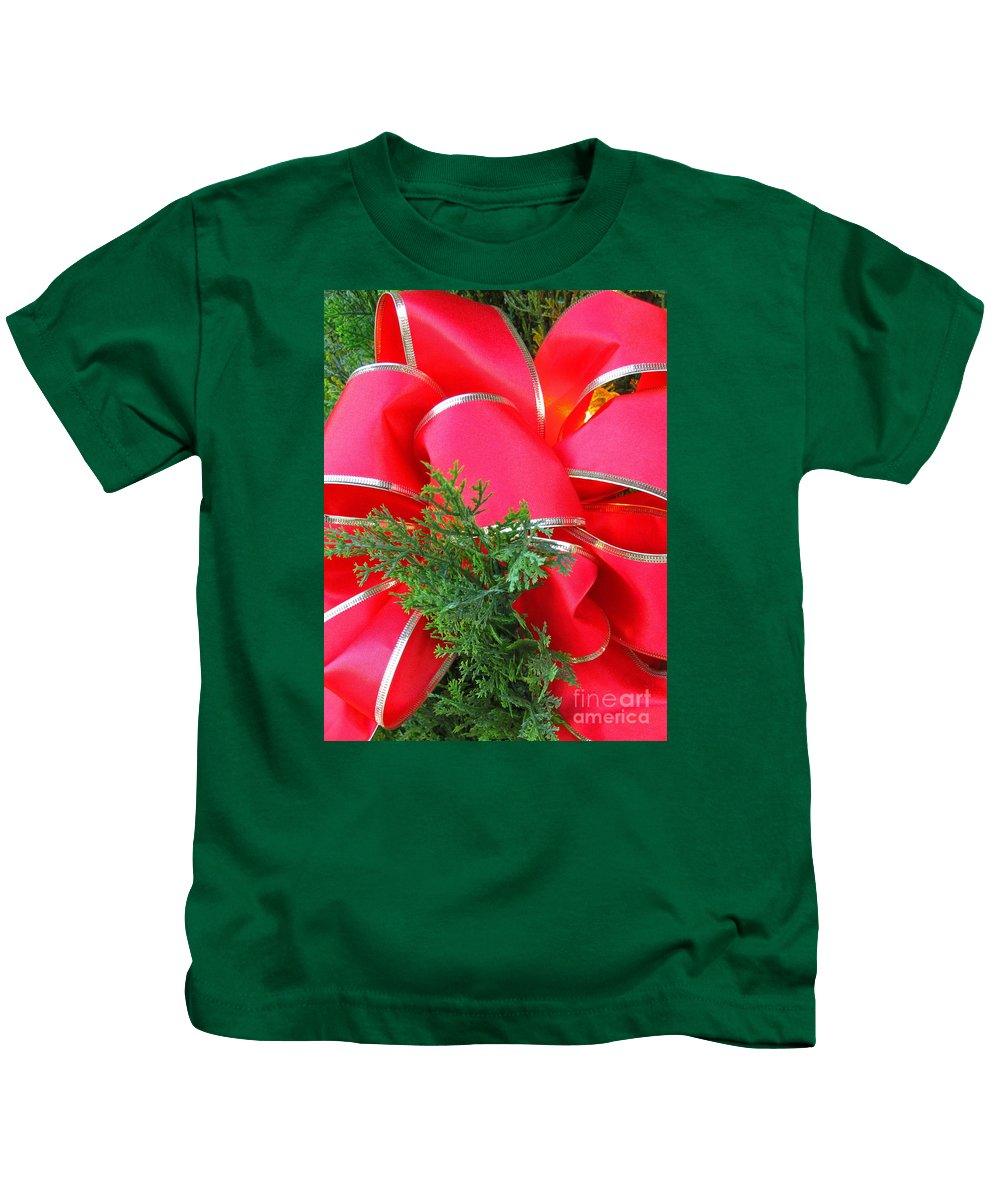 Christmas Kids T-Shirt featuring the photograph Red And Greens by Ann Horn